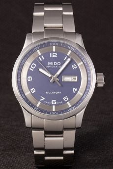 Mido Multifort Stainless Steel Grey Strap-Silver Dial 80295